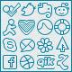 Slender Glyphs: Social Network Icon Set - GraphicRiver Item for Sale