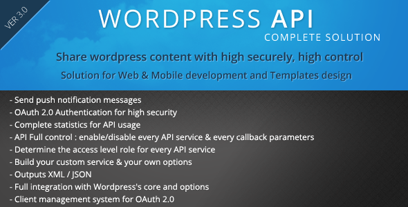 SMIO Wordpress API Complete Solution - CodeCanyon Item for Sale