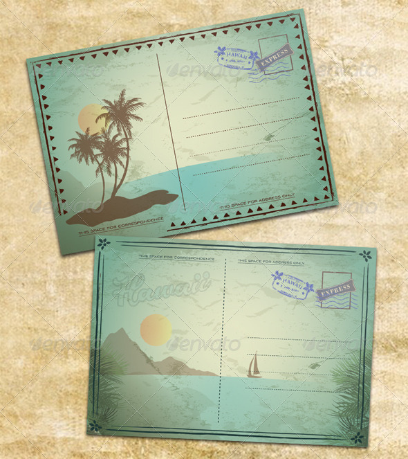Vintage Summer Postcards - Nature Conceptual