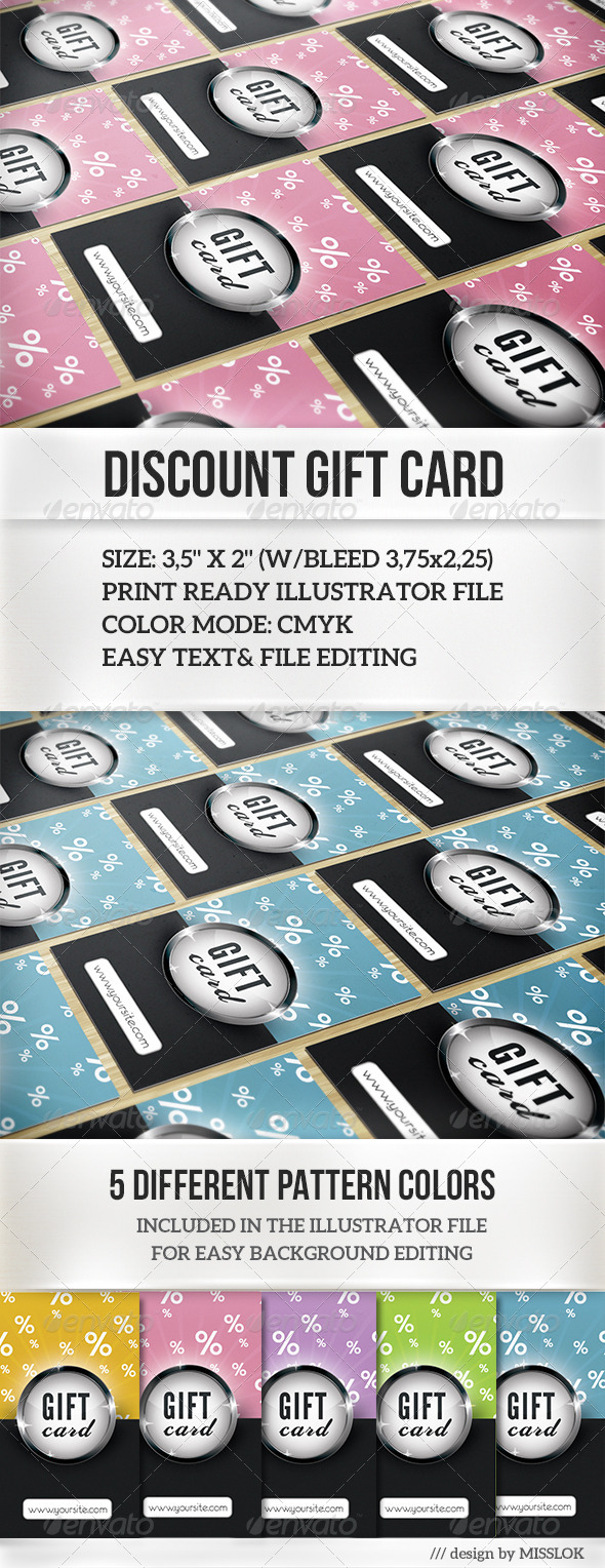 Discount Gift Card - Miscellaneous Print Templates