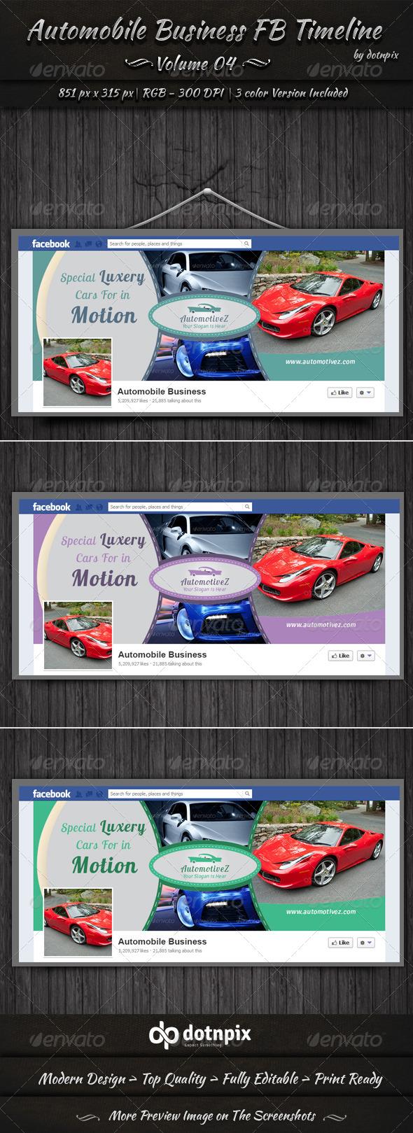 Automobile Business FB Timeline | Volume 4 - Facebook Timeline Covers Social Media