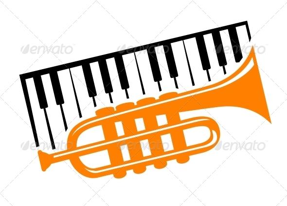 Piano and Trumpet - Miscellaneous Vectors