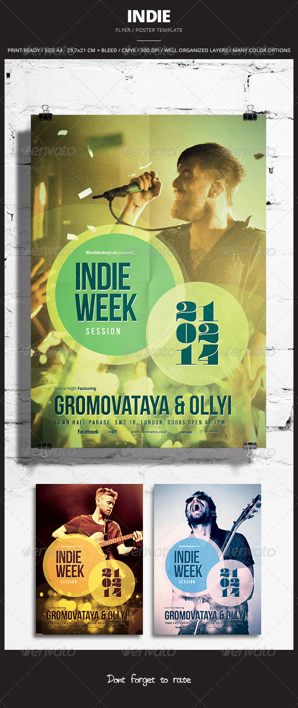 Indie Flyer / Poster 15 - Events Flyers