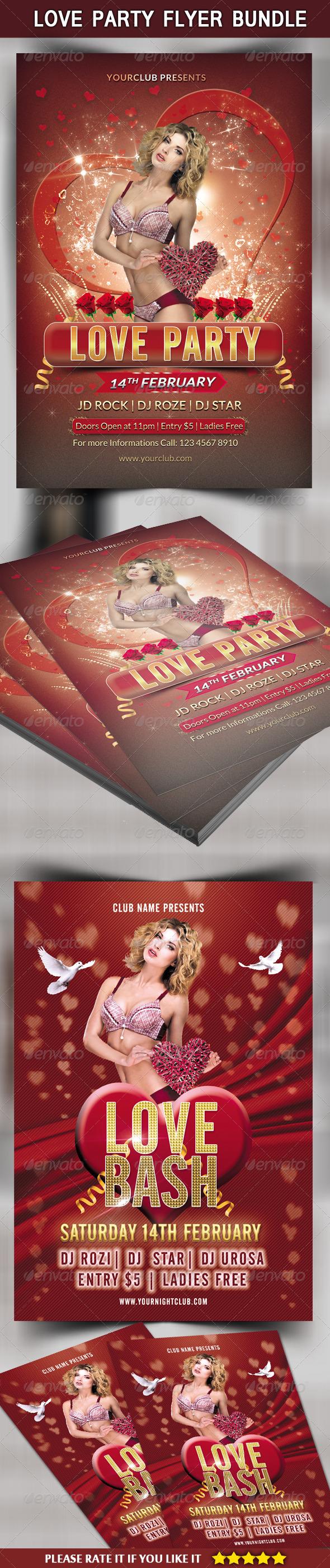 Love Party Flyer Bundle - Clubs & Parties Events