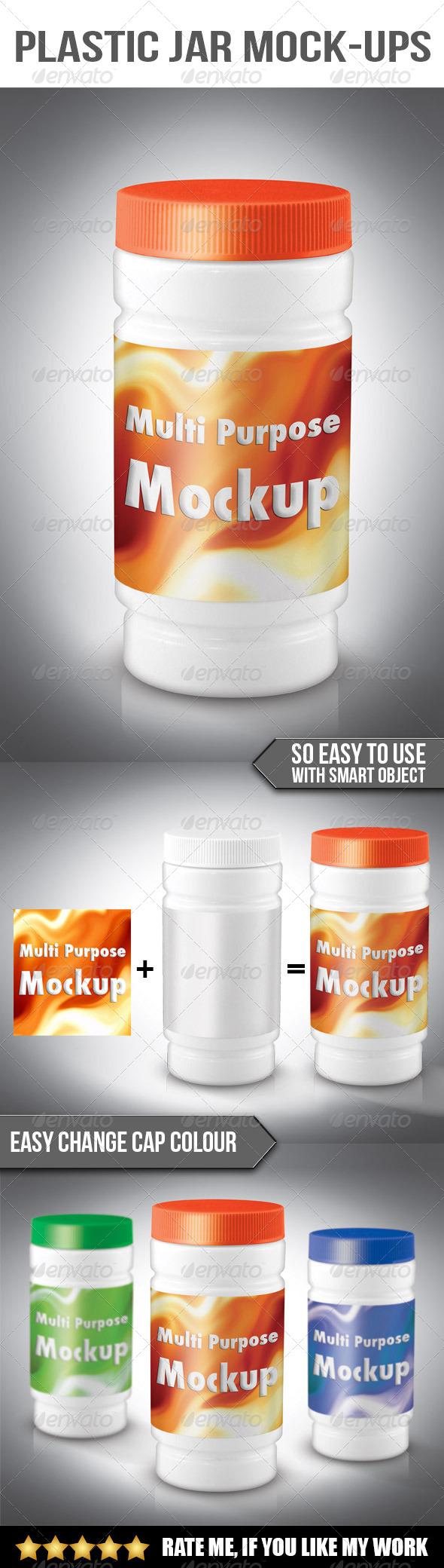 Plastic jar mockup - Product Mock-Ups Graphics