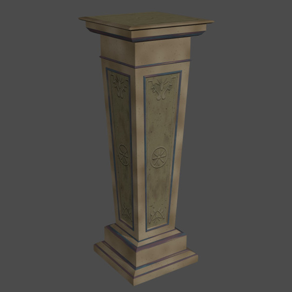 Decorative Stone Pillar - 3DOcean Item for Sale