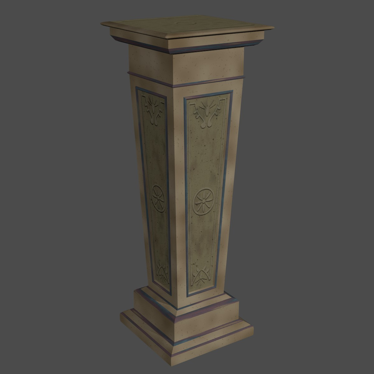 Decorative Stone Pillar By 1supermind 3docean