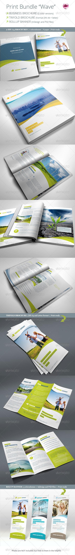 "Print Bundle ""Wave"" - Corporate Brochures"
