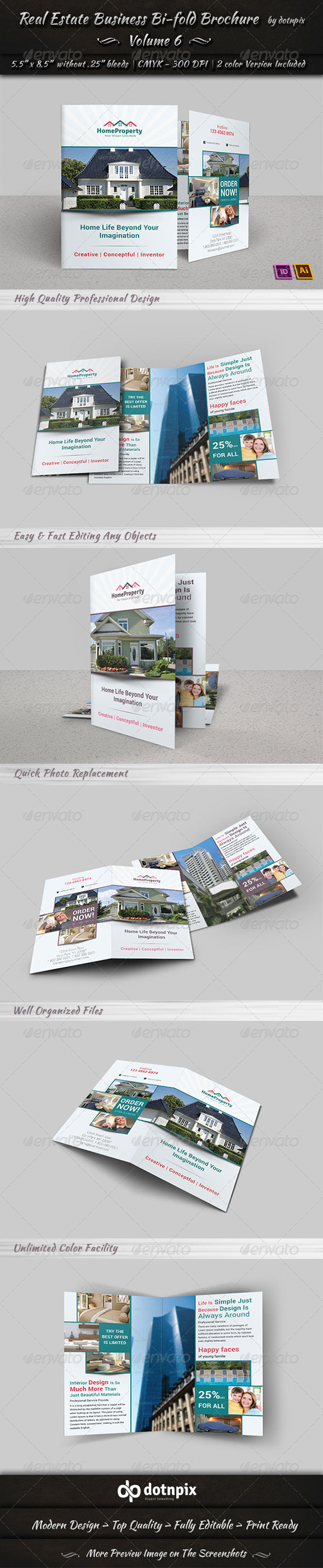 Real Estate Business  Bi-Fold Brochure | Volume 6 - Corporate Brochures