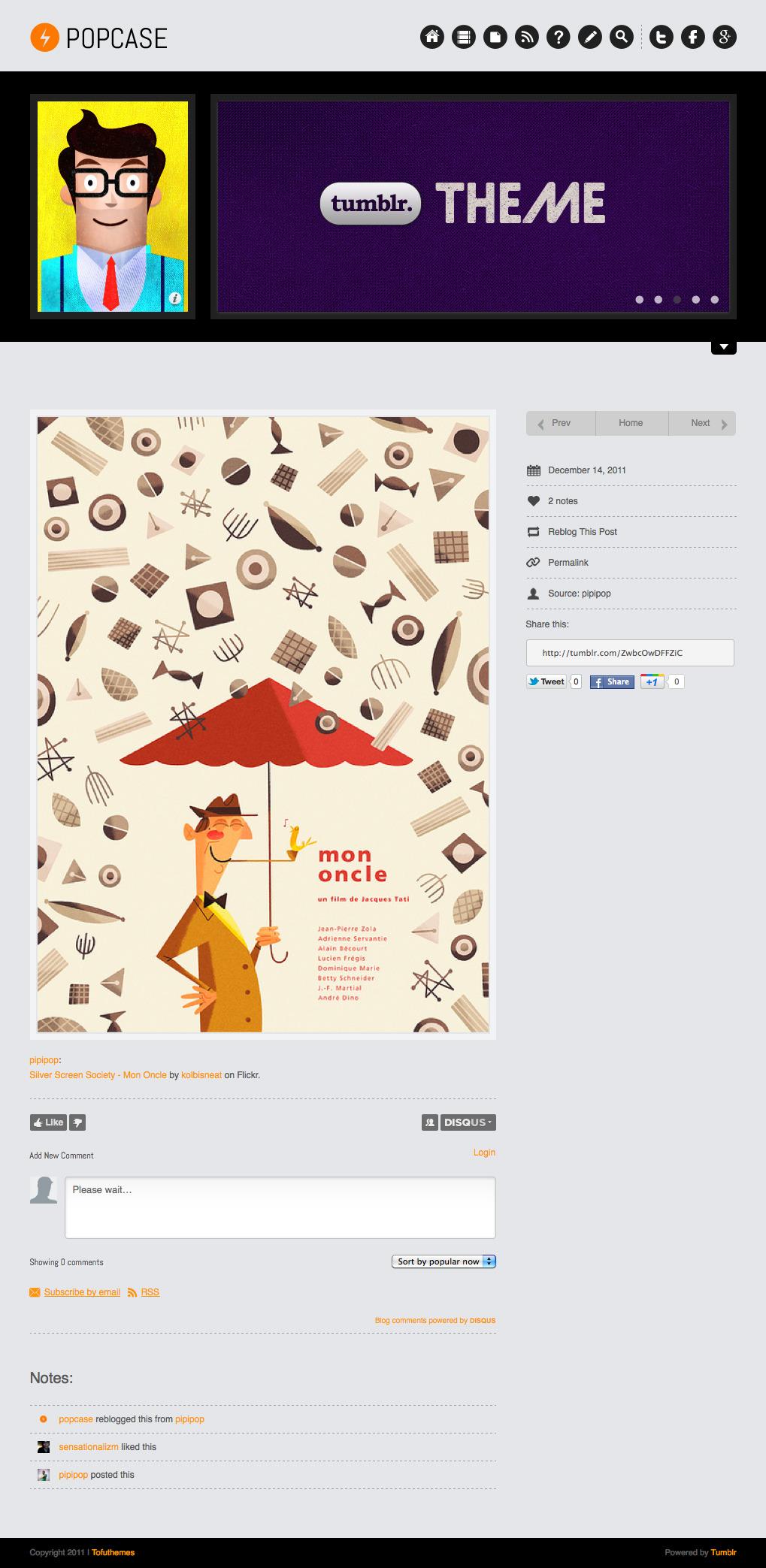 POPCASE Tumblr Theme » Website Templates - Themes Buy