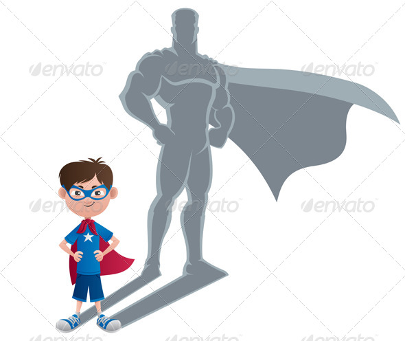 Boy Superhero Concept - People Characters