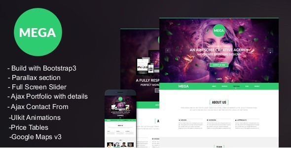 MEGA -Responsive onepage Parallax Template