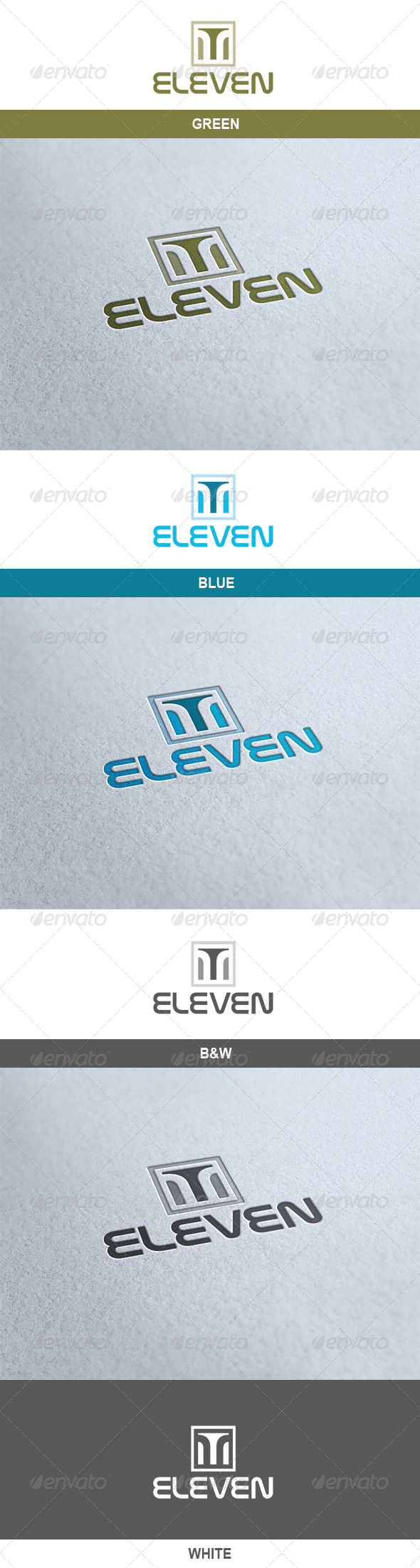 Eleven Logo - Numbers Logo Templates