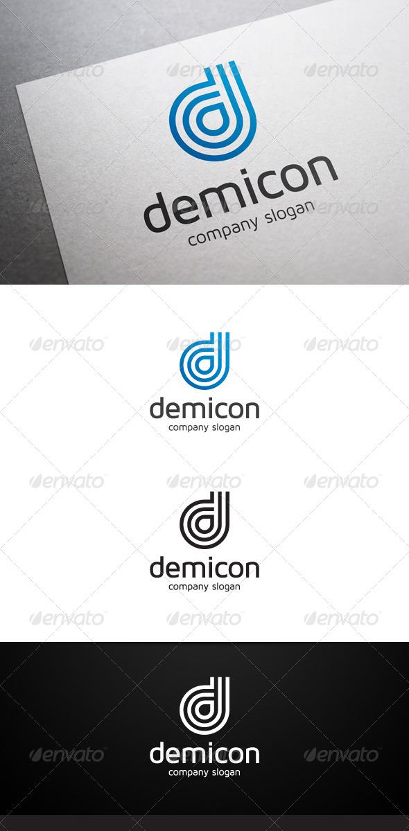 Demicon D Letter Logo - Letters Logo Templates
