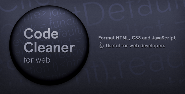 Code Cleaner for Web (HTML, CSS and JavaScript) - CodeCanyon Item for Sale
