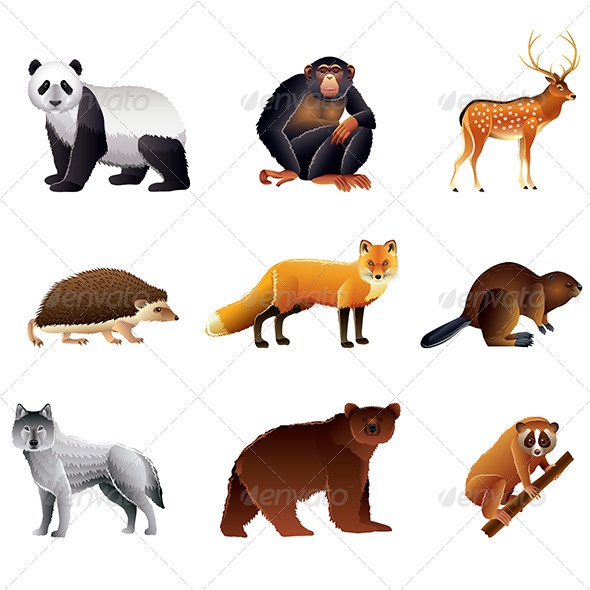 Asian Animals Set - Animals Characters