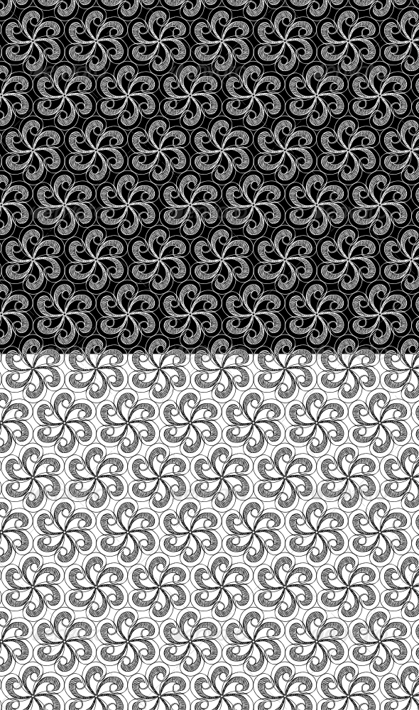 Hand Drawn Radial Swirl Pattern - Patterns Backgrounds