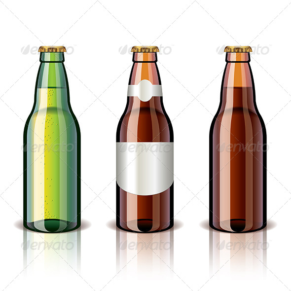 Beer Bottles - Food Objects