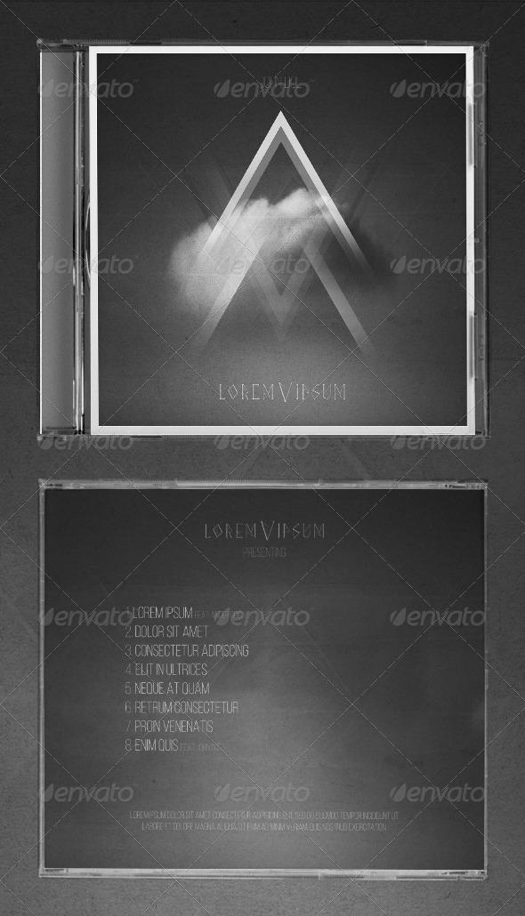 Clouds CD Cover Artwork Template - CD & DVD Artwork Print Templates