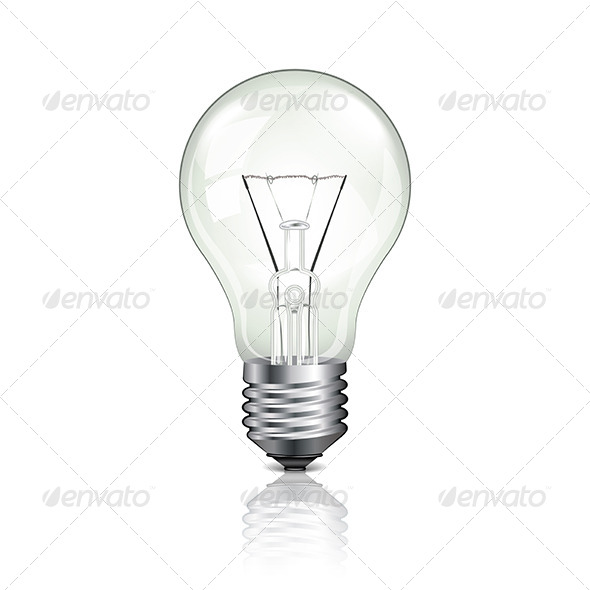 Lightbulb Vector Illustration - Man-made Objects Objects