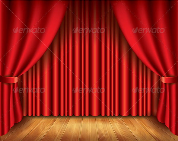 Red Curtain Illustration - Backgrounds Decorative