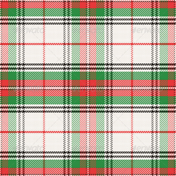 Vector Seamless Pattern Scottish Tartan - Patterns Decorative