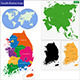 South Korea Map - GraphicRiver Item for Sale