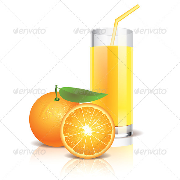 Orange Juice Illustration - Food Objects