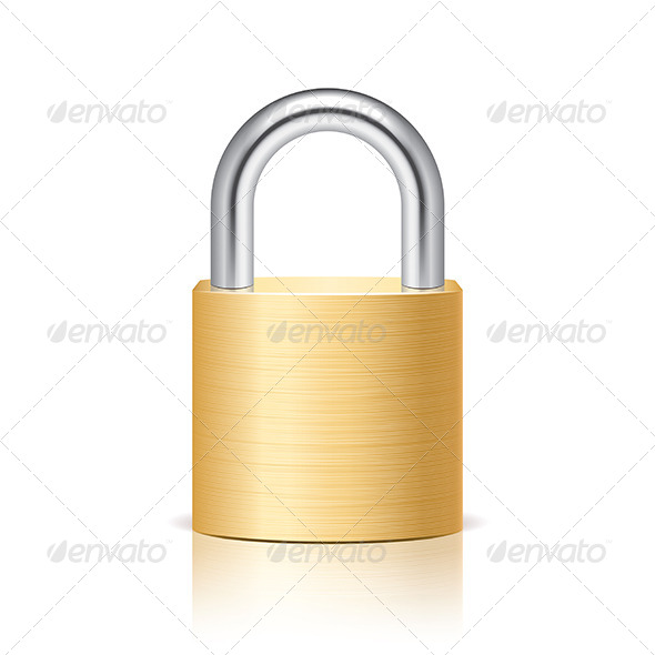 Metal Padlock - Man-made Objects Objects