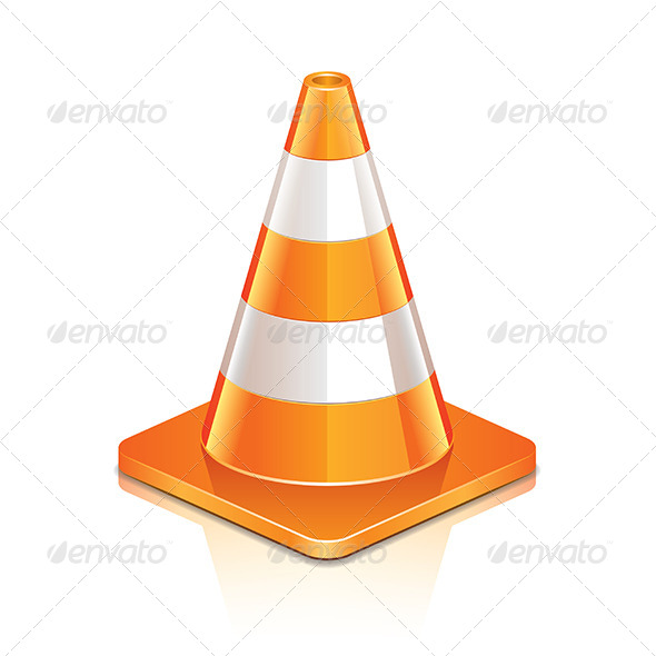 Road Cone by andegro4ka | GraphicRiver