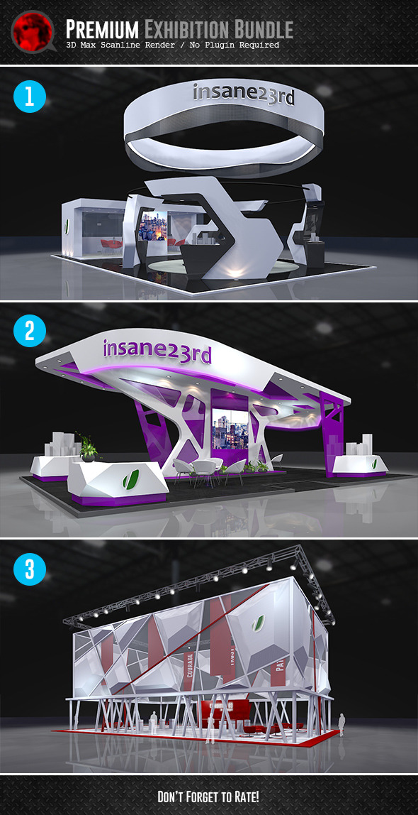 3d Exhibition Stand Design Free Download : Bundle premium exhibition design booths by abellangbid