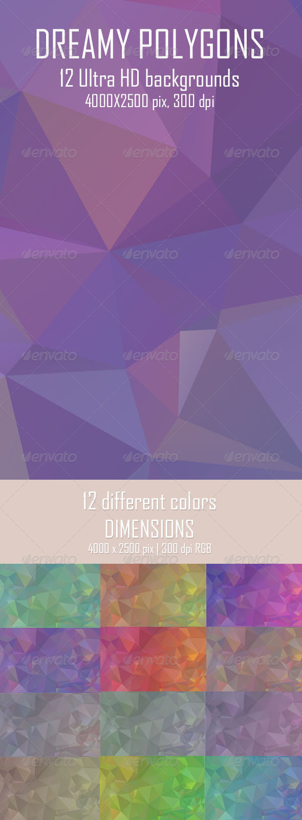 Dreamy Polygon Backgrounds - Abstract Backgrounds
