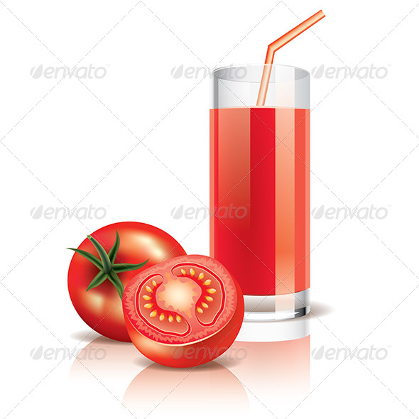 Tomato Juice - Food Objects