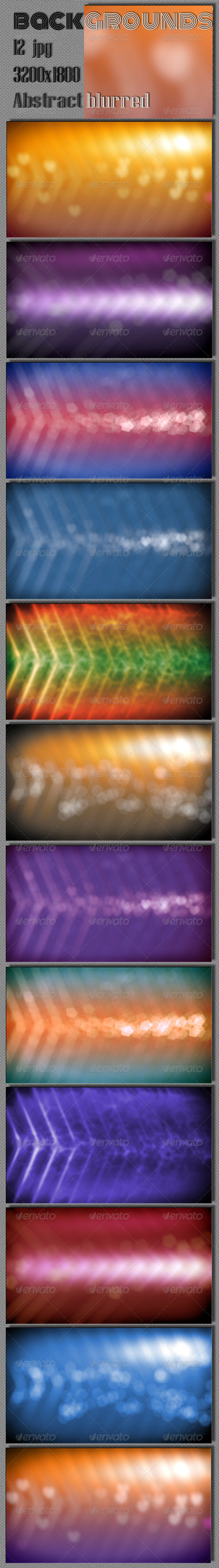 Abstract Blurred Backgrounds - Abstract Backgrounds