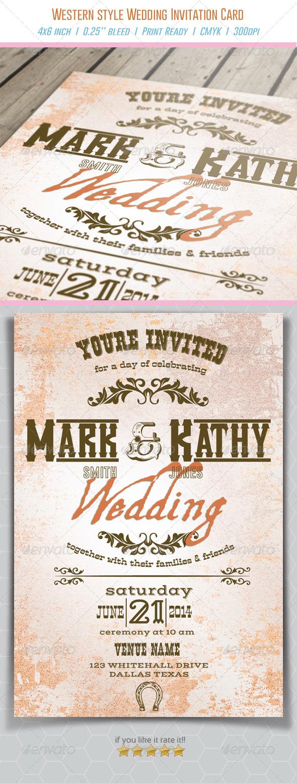 Western Style Wedding Invitation Card - Weddings Cards & Invites