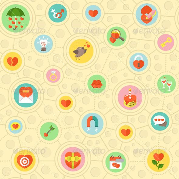 Circular Love Pattern - Patterns Decorative