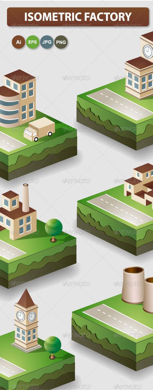 Industrial Plants - Buildings Objects
