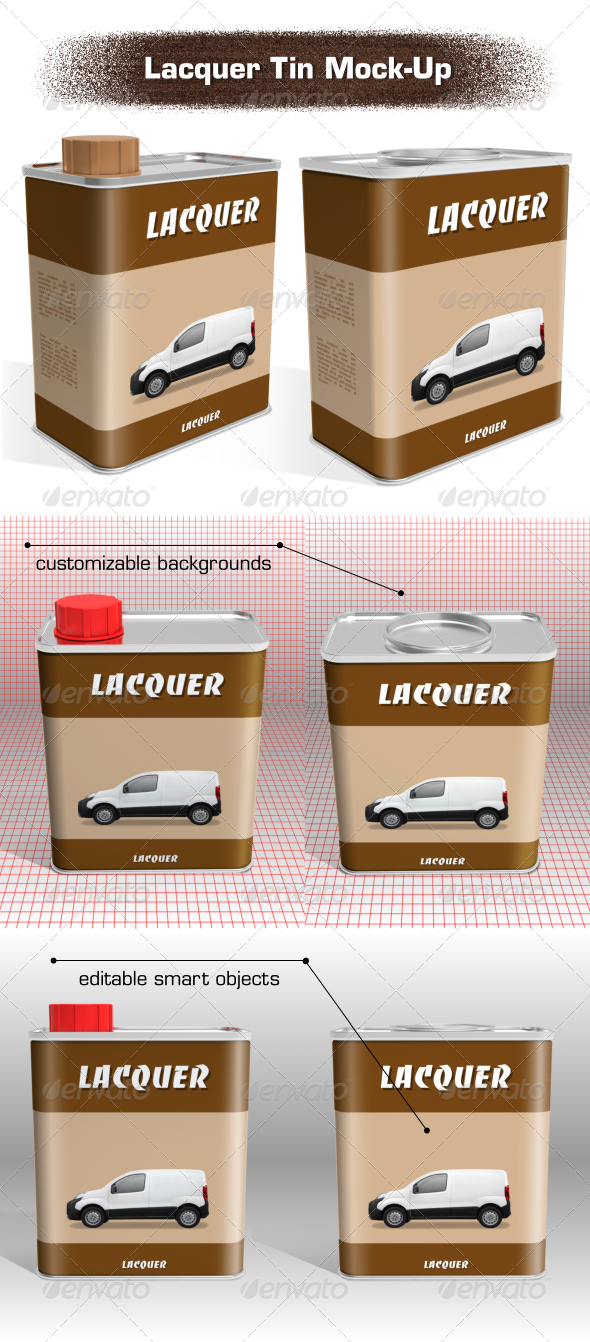 Lacquer Tin Mock-Up - Packaging Product Mock-Ups