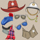 Set of Military and Sheriff Accessories - GraphicRiver Item for Sale