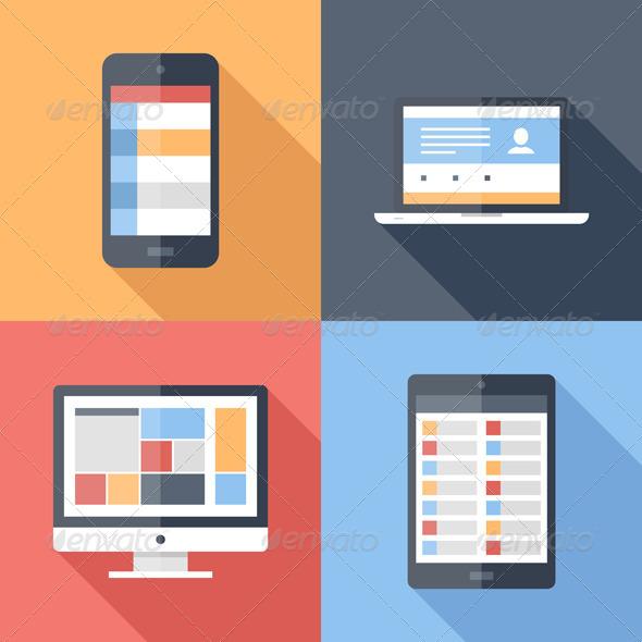 Flat Icons - Technology Conceptual