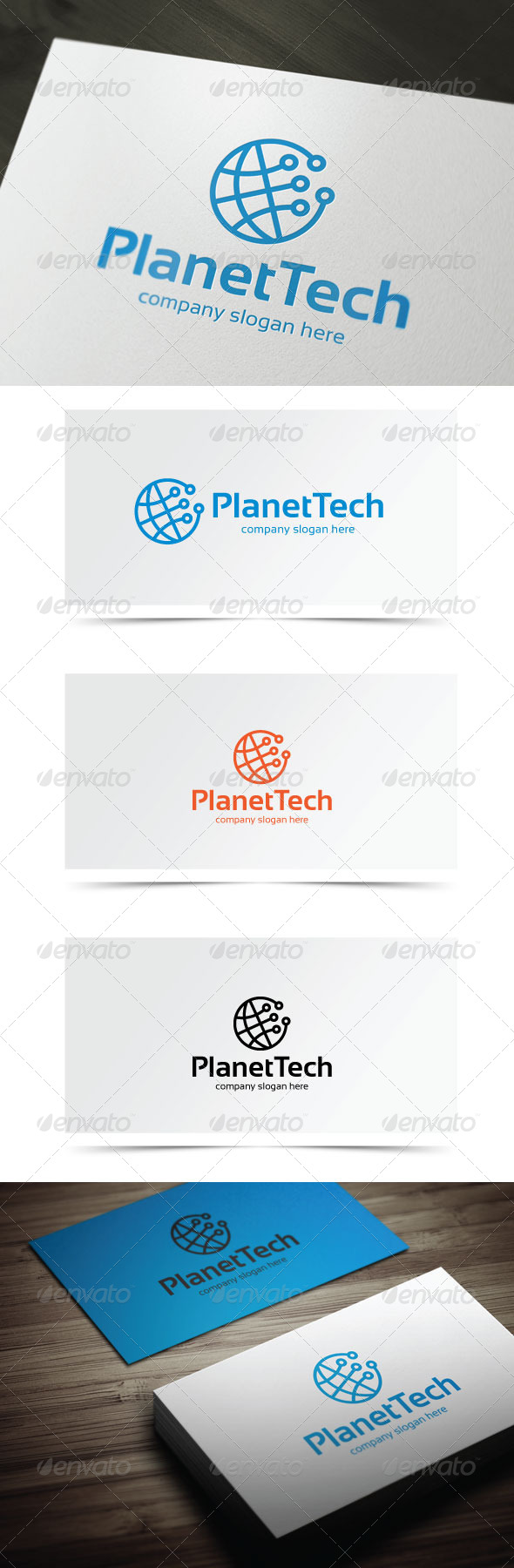 Planet Tech - Symbols Logo Templates