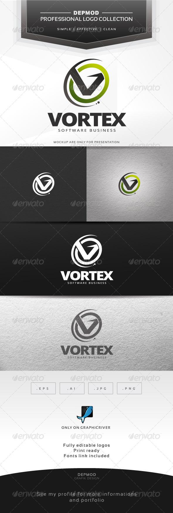 Vortex Logo - Letters Logo Templates