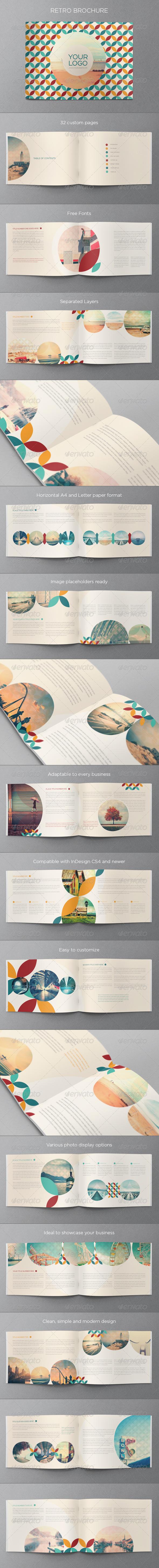 Retro Brochure - Brochures Print Templates
