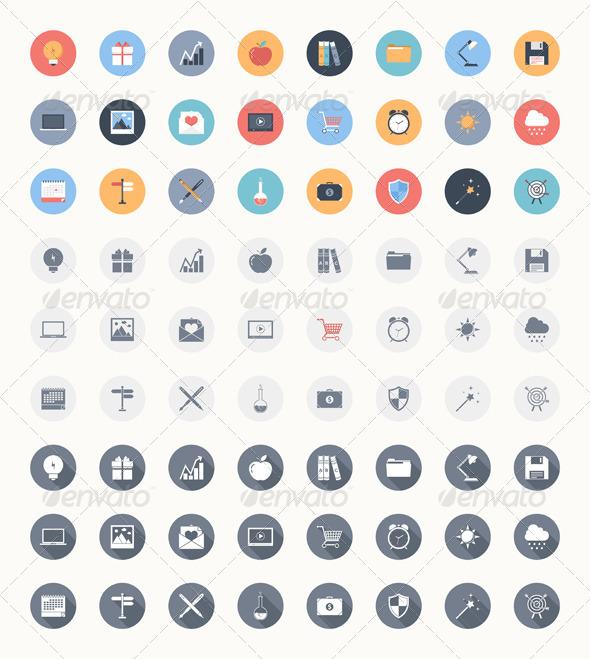 Universal Flat Icons - Media Icons