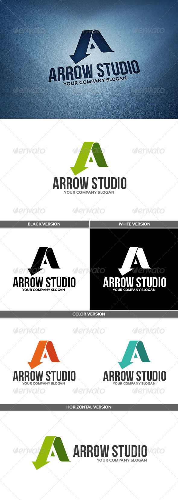 ArrowStudio Logo - Letters Logo Templates