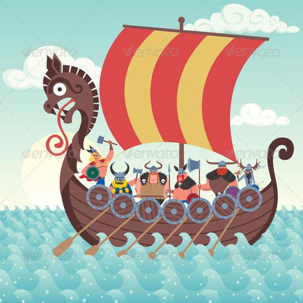 Viking Ship - Travel Conceptual