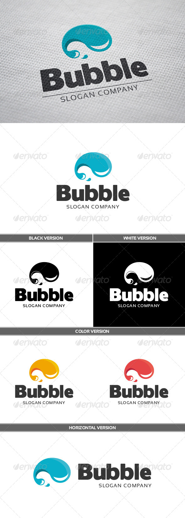 Bubble Logo - Objects Logo Templates