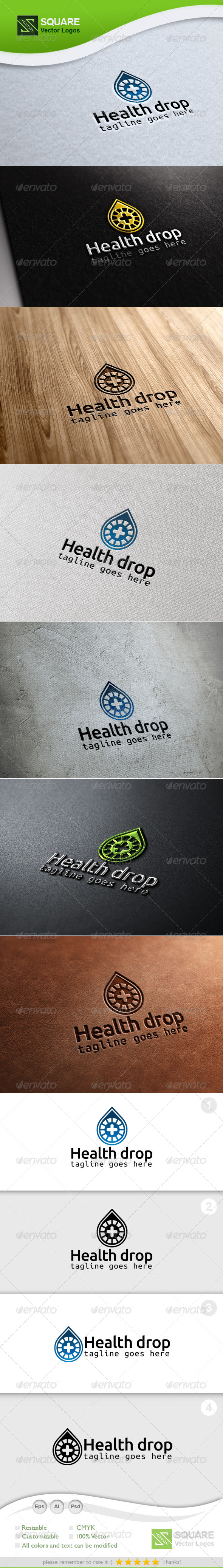 Health, Drop Vector Logo Template - Nature Logo Templates