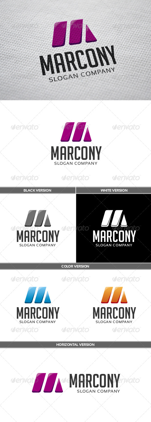 Marcony Logo - Letters Logo Templates