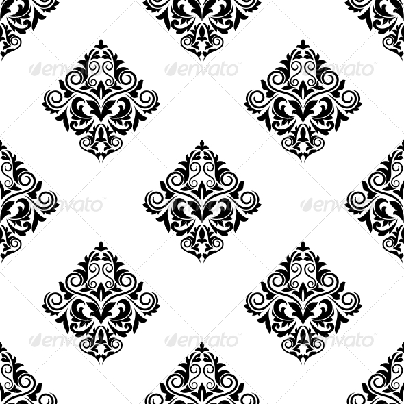 Damask Style Arabesque Seamless Pattern - Patterns Decorative